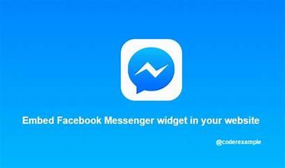 Messenger Widget Embed Website Example Link Message