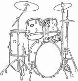 Coloring Instruments Musical Drums Colouring Instrument Drum Drawing Drawings Sets Cool Guitar Sheets Lessons Draw Tattoo Painting sketch template