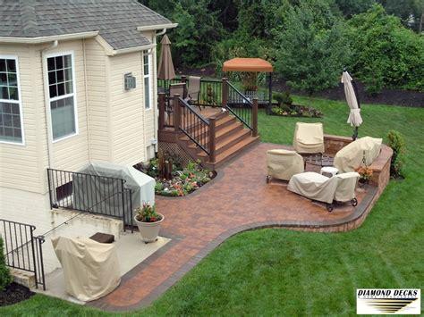 custom brick patio wood deck deck gallery maryland dc