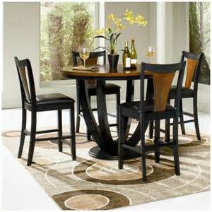 coaster 5 pc boyer black and cherry two tone wood finish