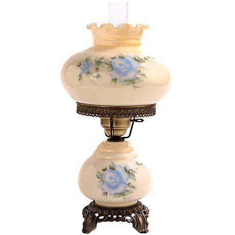 small night light table ls small blue rose night light hurricane table l f7965