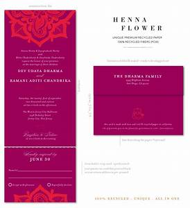 Indian wedding invitations on 100 recycled paper henna for Indian wedding invitations recycled paper