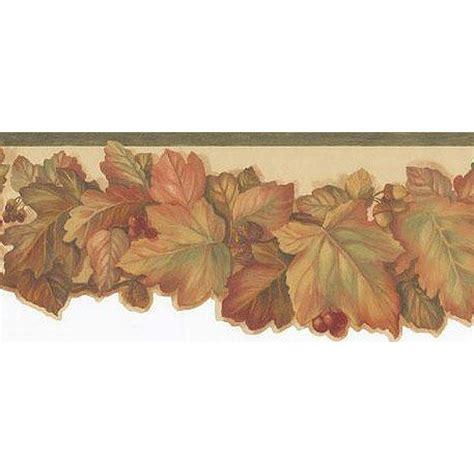 Sr026173autumn Leaves Sculptured Borderdiscount Wallcovering