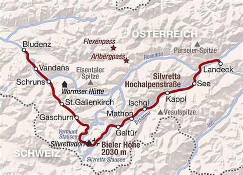 Silvretta Hochalpenstraße Karte