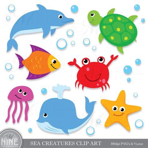 sea creatures clipart sea creatures clip digital clipart instant