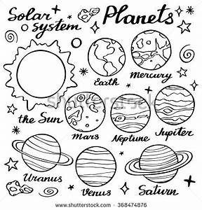 Hand Drawn Solar System On White Stock Vector 337570763 ...
