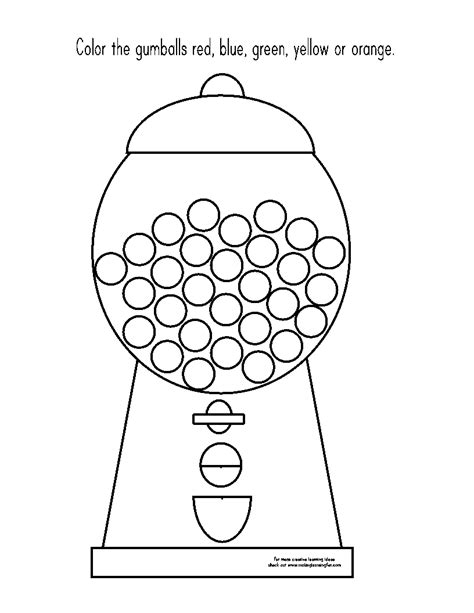 gumball machine template templates math gum machine gum and bubbles