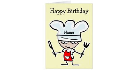 Baby Shower Magnets by Birthday Card For Chef Or Cook Cooking Theme Zazzle Com