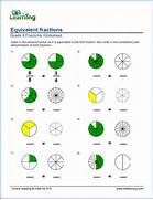 Equivalent Fractions Worksheet Grade 4 Equivalent Fraction Worksheets Coloring And Naming Equivalent