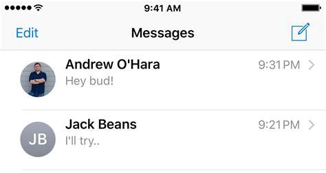 hide contact    messages app