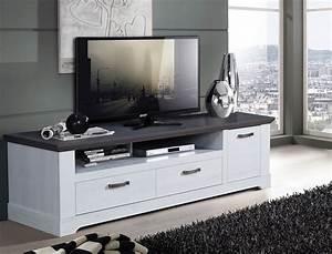 Tv Schrank Weiß : tv board gaston 26 weiss grau 185x54cm schneeeiche lowboard tv schrank wohnbereiche wohnzimmer ~ Frokenaadalensverden.com Haus und Dekorationen