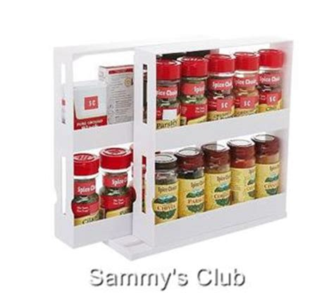 Swivel Store Spice Rack by 2 Swivel Store Spice Rack Cabinet Storage System As Seen