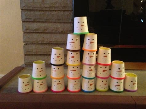 play doh wrapped as snowmen preschool christmas gift