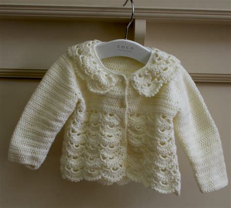 toddler cardigan sweater crocheted lacy baby cardigan a slice of