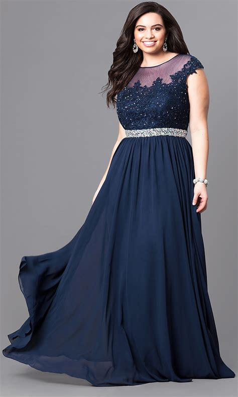 size navy long prom dress  beads promgirl