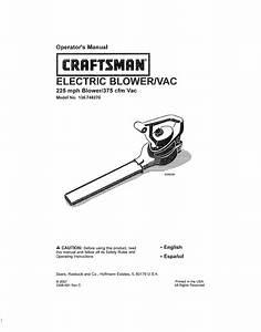 Craftsman Blower 136 748270 User Guide