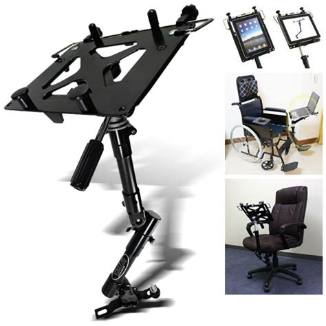 wheelchair office chair laptop camcorder bolt on