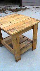 End table made from pallets KneXtreme on Instructables
