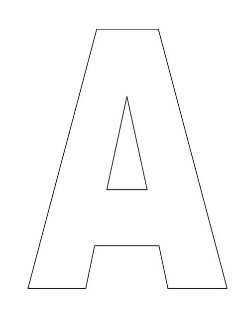 letter template colouring pages clipart