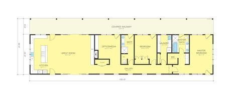 Ranch Style House Plan   2 Beds 2 Baths 2415 Sq/Ft Plan