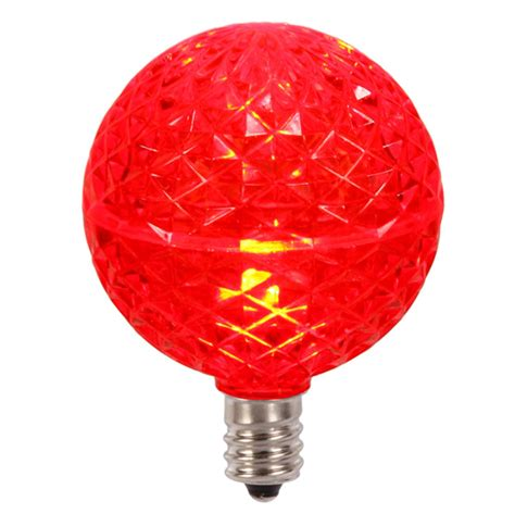 g50 christmas light bulbs club pack of 25 led g50 red replacement christmas light