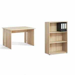 Schreibtisch Mit Regal : schreibtisch 1 mit kleinem regal eiche sonoma kaufen bei m bel lux ~ Whattoseeinmadrid.com Haus und Dekorationen