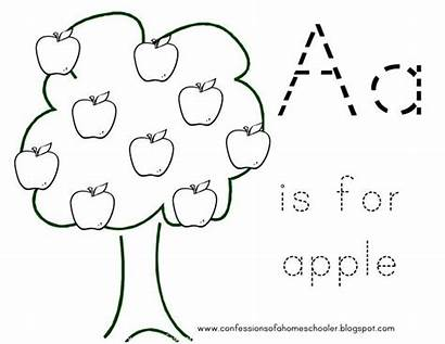 Apple Preschool Activities Olds Learning Toddler Coloring