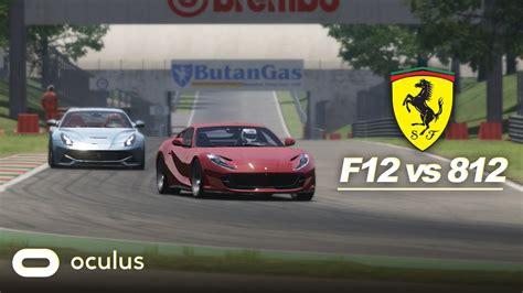 812 superfast ein vergleich zwischen dem ferrari f12tdf und ferrari 812 superfast aus der hypercar. Assetto VR - Ferrari F12 vs Ferrari 812 @ Monza - YouTube