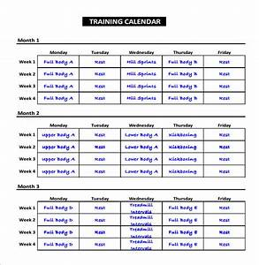 exercise schedule template 7 free word excel pdf With workout plan template pdf