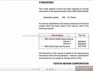 Lexus Gs300 1995 Wiring Diagram Manual Ewd171u  Usa