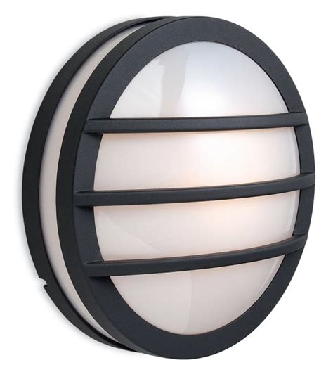 exterior round light with slats