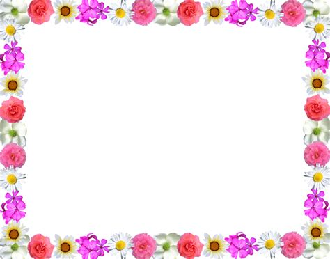 border designs with flowers line flower border design clipart best