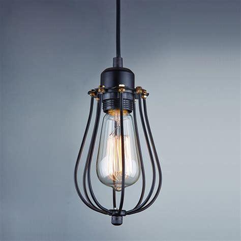 vintage metal cage industrial pendant light hanging l