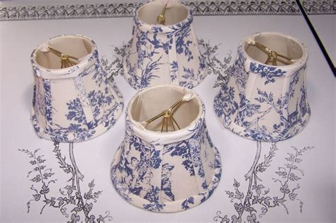 french country l shades 4 chandelier candelabra clip on lamp shades blue cream
