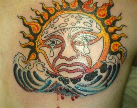 crying sun tattoo