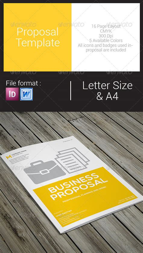 customize  simple business proposal template  ms