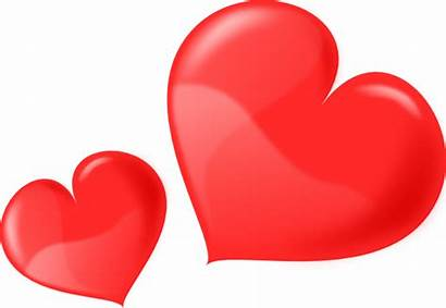 Hearts Clip Glossy Clipart Heart Clker Svg