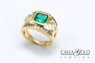 woven wedding bands emerald gold ring eternity jewelry