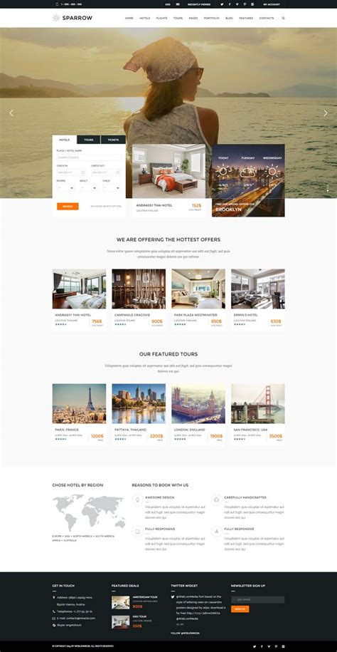 hotel website templates  hotel  travel