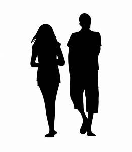 The gallery for --> Two People Walking Silhouette