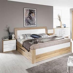 Rauch Bett 180x200 : rauch arona schlafzimmer eiche sonoma hochglanz wei ~ Frokenaadalensverden.com Haus und Dekorationen