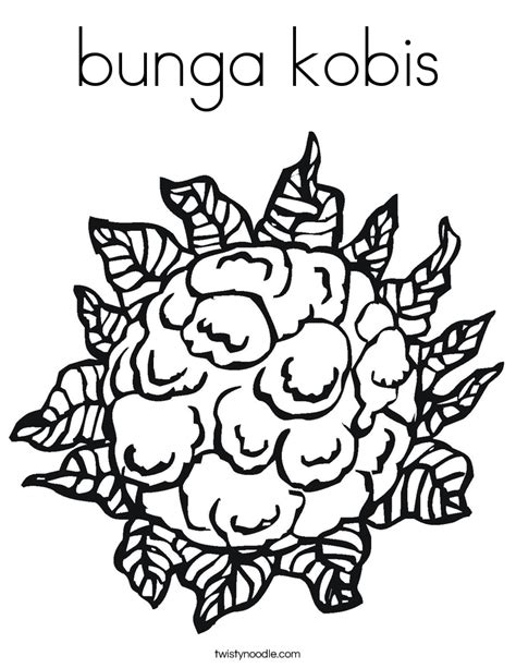 Coloring Bunga by Bunga Kobis Coloring Page Twisty Noodle