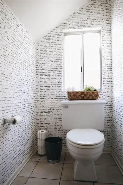 Bathroom Powder Parati Carta Removable Decoration Papier