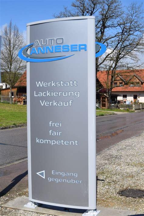 Werbestele Auto Anneser