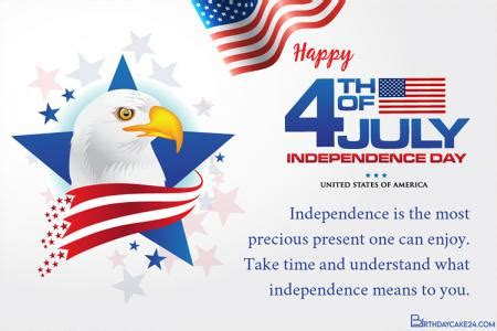 personalize   american independence day card