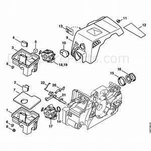 Stihl 017 Chainsaw  017  Parts Diagram  Air Filter  Shroud