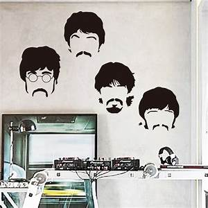 Art design cheap vinyl home decoration Beatles wall