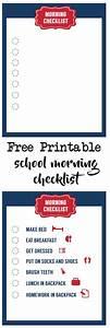 Free Printable Baby Schedule Chart School Morning Routine Checklist Free Printable Morning