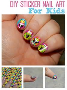 Diy silly sticker nail art for kids totally the bomb