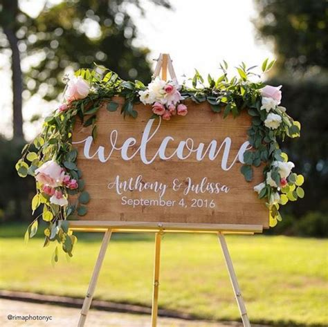Wedding Signs by Wedding Welcome Sign Wedding Decoration Wedding Wood Sign